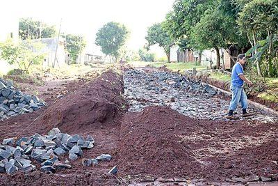 Construirán empedrados en varios sectores de Presidente Franco