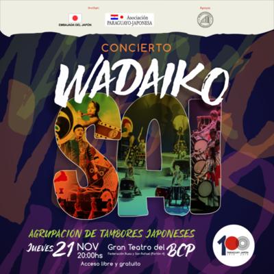 Japoneses ofrecerán concierto de tambores este jueves en el BCP