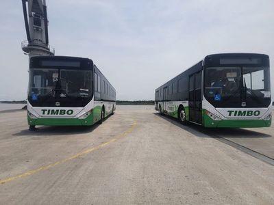 Llegaron los primeros dos buses eléctricos