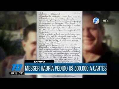 La carta que Messer habría escrito a Cartes