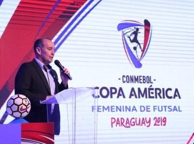 Sortearon llaves para Copa América de Futsal Femenina