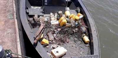 Veda: Incautaron elementos de pesca prohibidos en Encarnación
