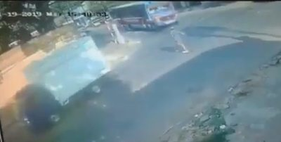 Colectivo arrolla y mata a un peatón en San Lorenzo