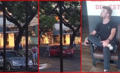Brasileño que arrolló a militar también destruyó un vehículo en Foz