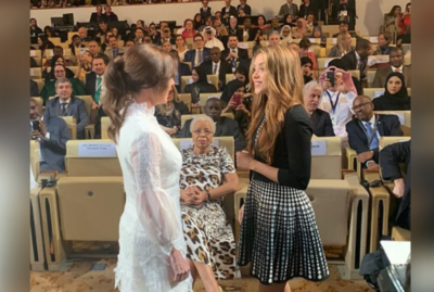 El encuentro entre la Primera Dama y Shakira