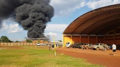 Helicóptero de las FF.AA. se desploma en Pedro Juan