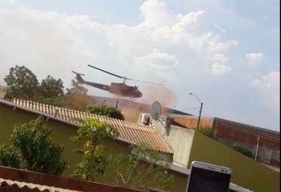 Tras 6 horas de combate, controlan incendio donde se estrelló helicóptero