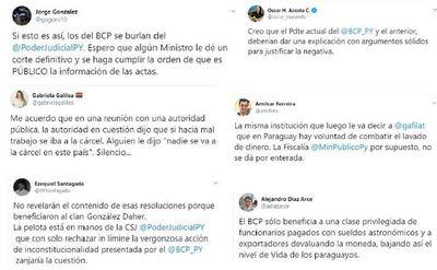 Explotan reacciones contra BCP
