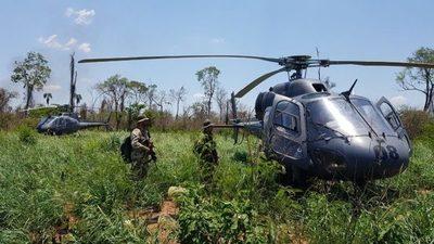 Helicóptero desplomado en PJC eliminó casi 500 toneladas de marihuana