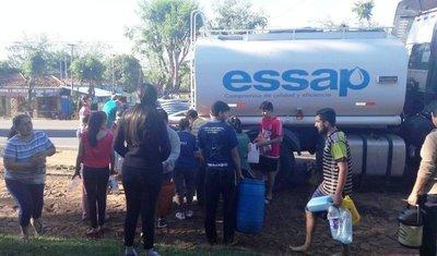 Falta de agua afecta a miles de luqueños •