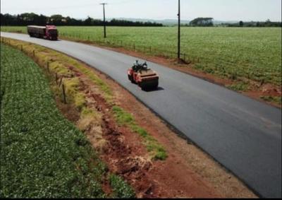 En febrero culminará la conexión asfáltica del distrito de Raúl Peña, en Alto Paraná