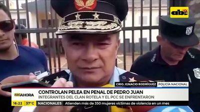 Controlan pelea en penal de Pedro Juan Caballero