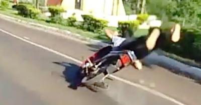 El video del accidente en Horqueta itujáma ra'e