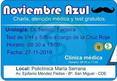 """""""Noviembre azul"""": Universidad ofrece charlas, atención urológica y test gratuitos"""