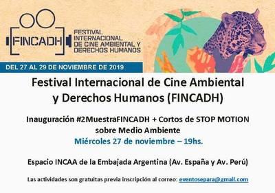 Se hará la inauguración del Festival Internacional de Cine Ambiental y DD.HH