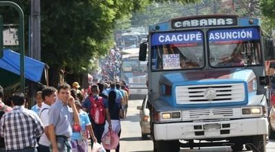 Operativo Caacupé: No pagarán pasajes menores de hasta tres años y no videntes