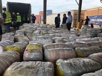 Carga valuada en USD 10 millones es incautada por unidad anticontrabando