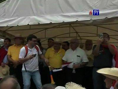 Policías y militares retirados protestan contra recorte presupuestario