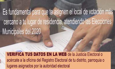 Instan a inscribirse y actualizar domicilio de cara a municipales del 2020