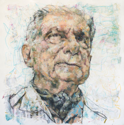 Artista donará retrato de Augusto Roa Bastos al Museo de Bellas Artes