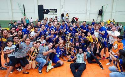 Luque Vóley, flamante campeón del torneo Clausura •