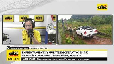 Enfrentamiento y muerte en operativo en PJC