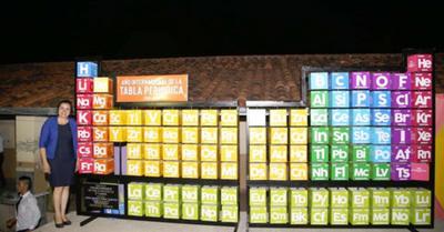 Tabla periódica más  grande del Paraguay