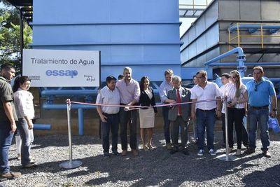 Inauguran plantas de tratamiento de Essap en Mariano Roque Alonso