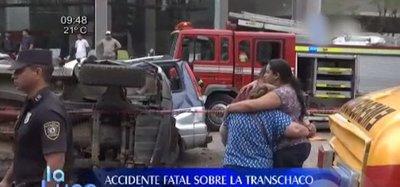 ¡Terrible! 4 fallecidos en accidente de tránsito sobre ruta Transchaco