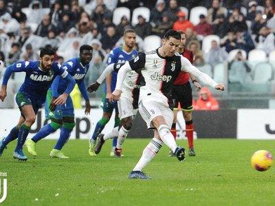 Juventus no puede con el Sassuolo pese a CR7 y ve peligrar su liderato