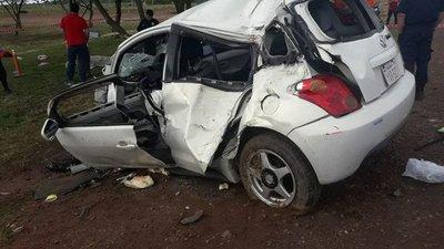 Accidente de tránsito en Caaguazú deja dos niños muertos