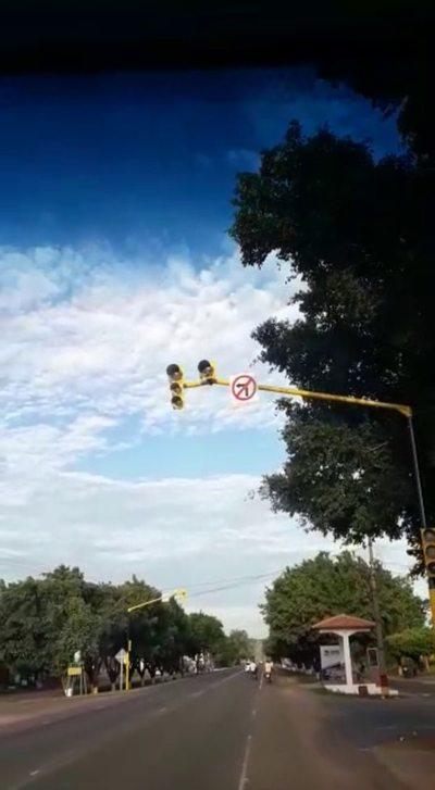 Los semáforos de nuevo no funcionan en Horqueta