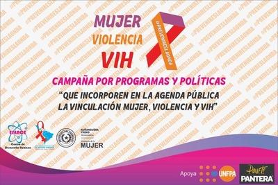 """Ministerio lanzará la campaña """"Mujer, violencia y VIH"""""""