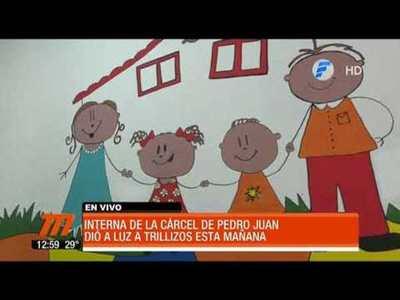 Interna de la cárcel de Pedro Juan dio a luz a trillizos