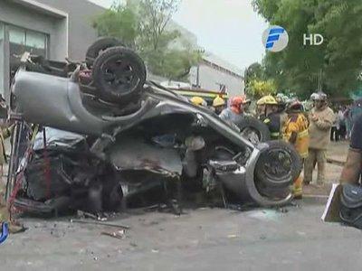Cámaras captaron el fatal accidente en Loma Pytã