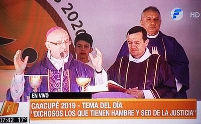 Monseñor resalta el papel de la justicia y dispara contra la corrupción