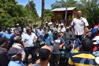 Sancosmeños logran reunión con Nicanor tras manifestación