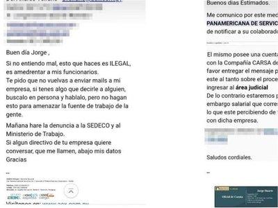 """El colmo: Mandan """"notificación"""" a empresas para requerir a los deudores"""