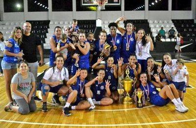 Sol de América es tetracampeón en basquetbol femenino.