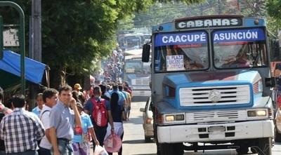 Desde el viernes liberan horario de buses para Caacupé