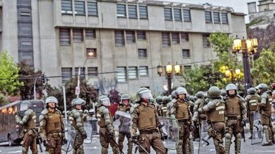 Chile se convirtió en un campo de batalla
