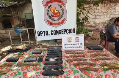 Incautan proyectiles de armas de guerra durante allanamiento