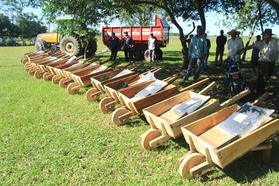 Oleros de Ñeembucú pidieron las carretillas de madera