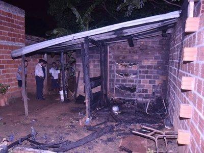Incendio de vivienda deja un herido en Mariano Roque Alonso
