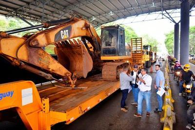 Puente de la Integración: ingresan al lado paraguayo primeras maquinarias