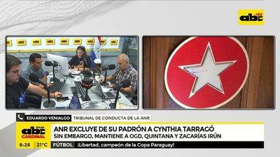 ANR excluye de su padrón a Cynthia Tarragó