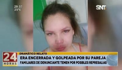 Mujer denuncia que fue encerrada y golpeada por su pareja