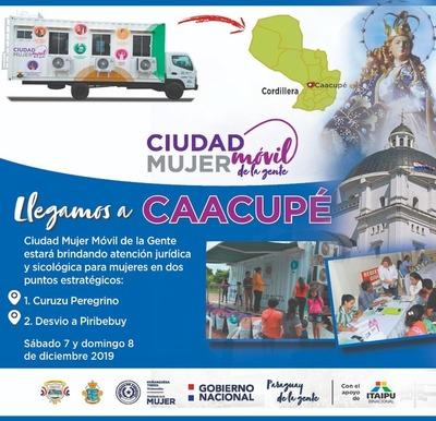 Ministerio de la Mujer brindará servicios este fin de semana en Caacupé