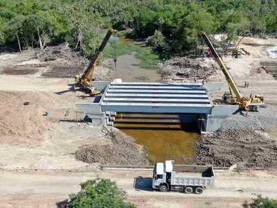 Segundo puente del Corredor Bioceánico estará terminado en enero