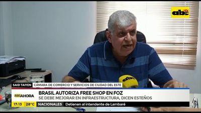 Brasil autoriza free shop en Foz